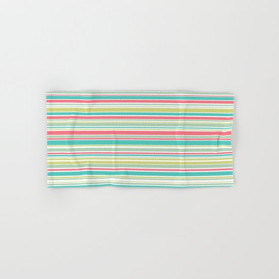 Candy Stripe Pastels Hand & Bath Towel