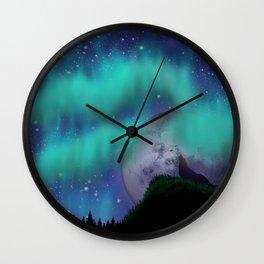 Midnight Howl Wall Clock
