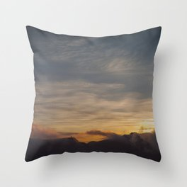 Faded sunset Throw Pillow