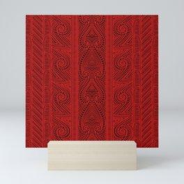 Maori tribal pattern – The Whakairo art of carving Mini Art Print