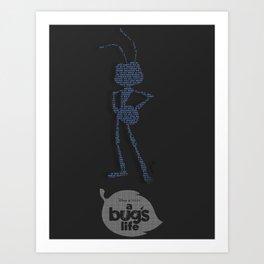 A Bug's Life Typography Art Print