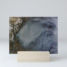 1343. Haze in central China Mini Art Print