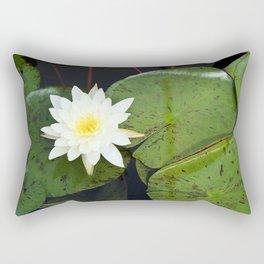 A Single Water Lily Rectangular Pillow