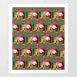 Chistmas sheeps Art Print