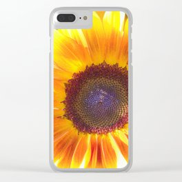 Watercolour Sunflower by Reay of Light Clear iPhone Case