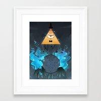 bill cipher Framed Art Prints featuring Bill Cipher by Maplespyder