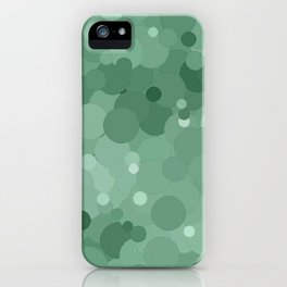 Grayed Jade Bubble Dot Color Accent  iPhone Case