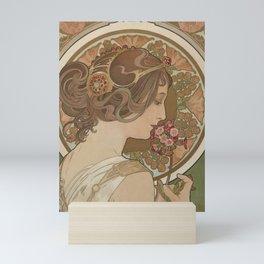 PRIMROSE Flower 1899 Alphonse Mucha Mini Art Print