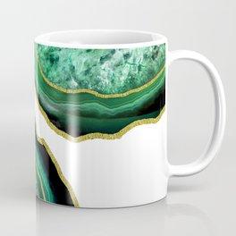 Green Holiday Agate Coffee Mug