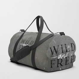 Wild and Free Silver Duffle Bag