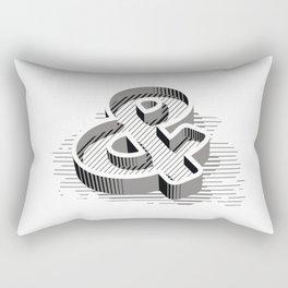 Ampersand 3D Rectangular Pillow