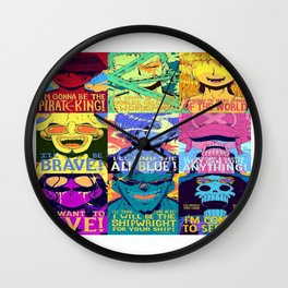 One piece puzzle Wall Clock