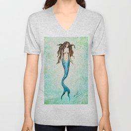 Hand Drawn Mermaid Unisex V-Neck