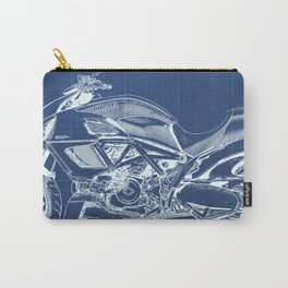 Blue Carbon Diavel Carry-All Pouch