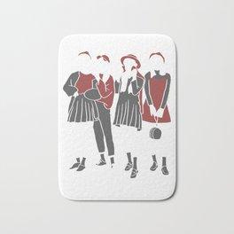 Black and Red - Fashion Design Art Bath Mat