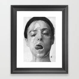 Monica Bellucci Traditional Portrait Print Framed Art Print