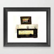 Stereo stack Framed Art Print