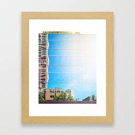 on reflection: bright. Framed Art Print