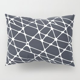 Dark Blue & White Abstract Mosaic Pattern 2 Pairs To 2020 Color of the Year Classic Navy Blue Pillow Sham