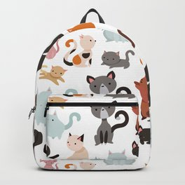 Cats Cat Kitten Texture Pattern LIKE PROMOTE Backpack