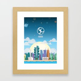 Space Up Framed Art Print