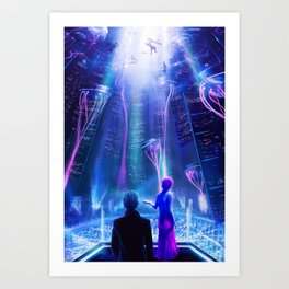 Ready Player One inspired | Painting Poster | CLUB SCENE | PRINTS | #M47 Art Print