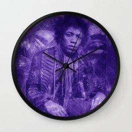 Purple Ohm Wall Clock