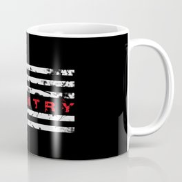 Infantry: Distressed American Flag Coffee Mug