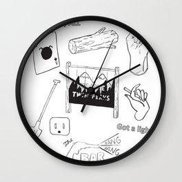 twin peaks fan art Wall Clock