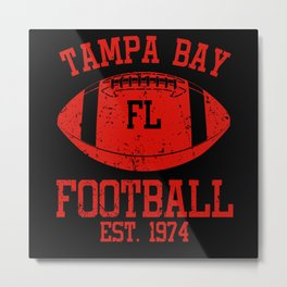 Tampa Bay Football Fan Gift Present Idea Metal Print