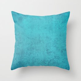 blue wall vintage  background,  stone texture, retro style Throw Pillow