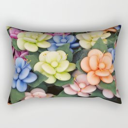 Sugared almonds as petals Rectangular Pillow