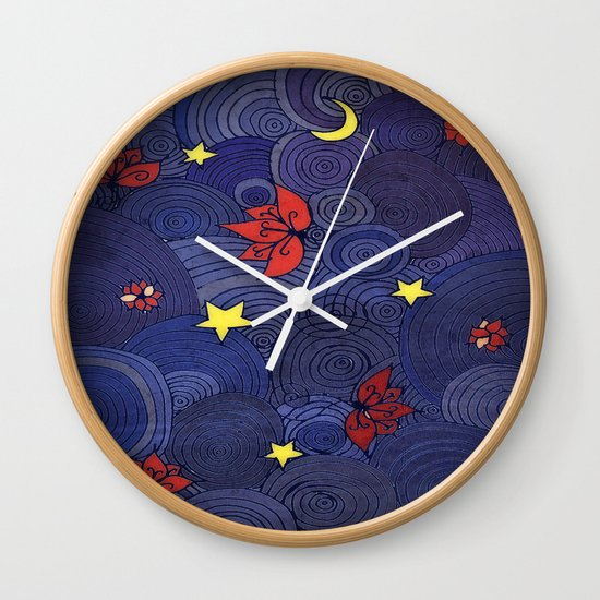 Lotus Sky Wall Clock