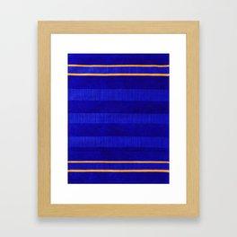 N241 - Navy Deep Calm Blue Velvet Texture Moroccan Style  Framed Art Print