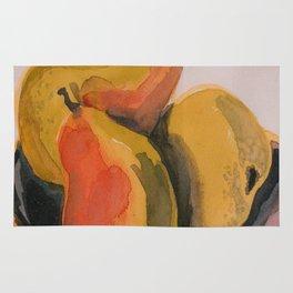 Three Anjou Pears in a Bowl Rug
