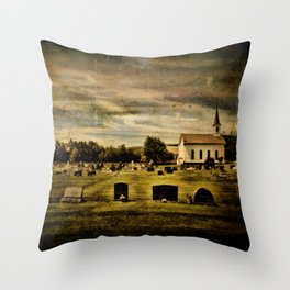 Grahamsville Reformed Church and Cemetery Throw Pillow