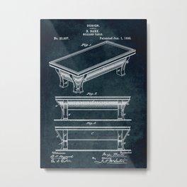 1895 - Billiard table Metal Print