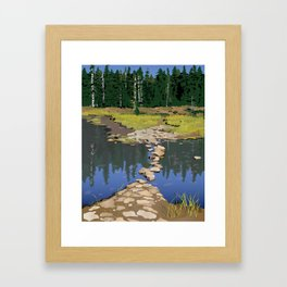 Rock Lake Version 2 Framed Art Print