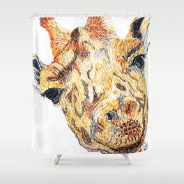Hi giraffe Shower Curtain
