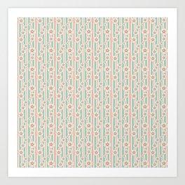 Deco Daisies Art Print