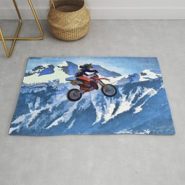 Mountain View-Motocross Rider Rug