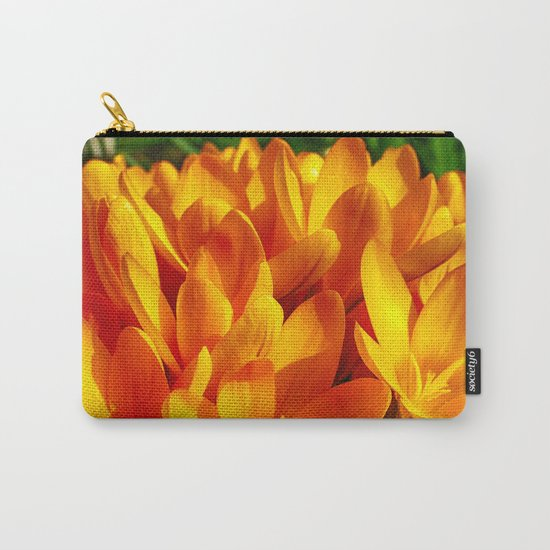 Yellow Flowers Carry-All Pouch