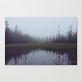 Chasing fog in Telemark Canvas Print