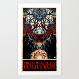 From Where its Roots Run (color) Art Print