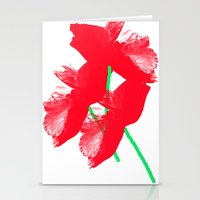 poppies Stationery Cards featuring Poppies by Vitta