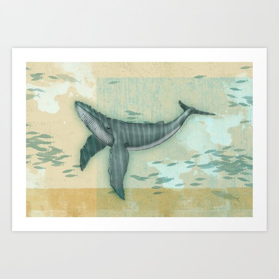 rhythm of the whale Art Print
