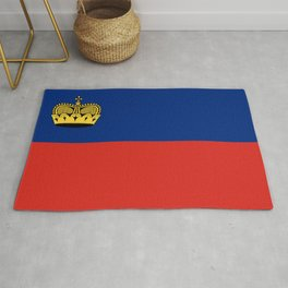 Liechtenstein country flag Rug