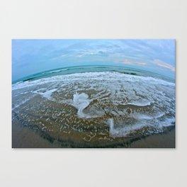 Fisheye Beach Canvas Print