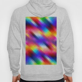 Abstract Colorful Funky Squares Pattern Hoody