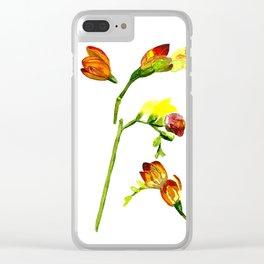 beautiful freesia flower Clear iPhone Case